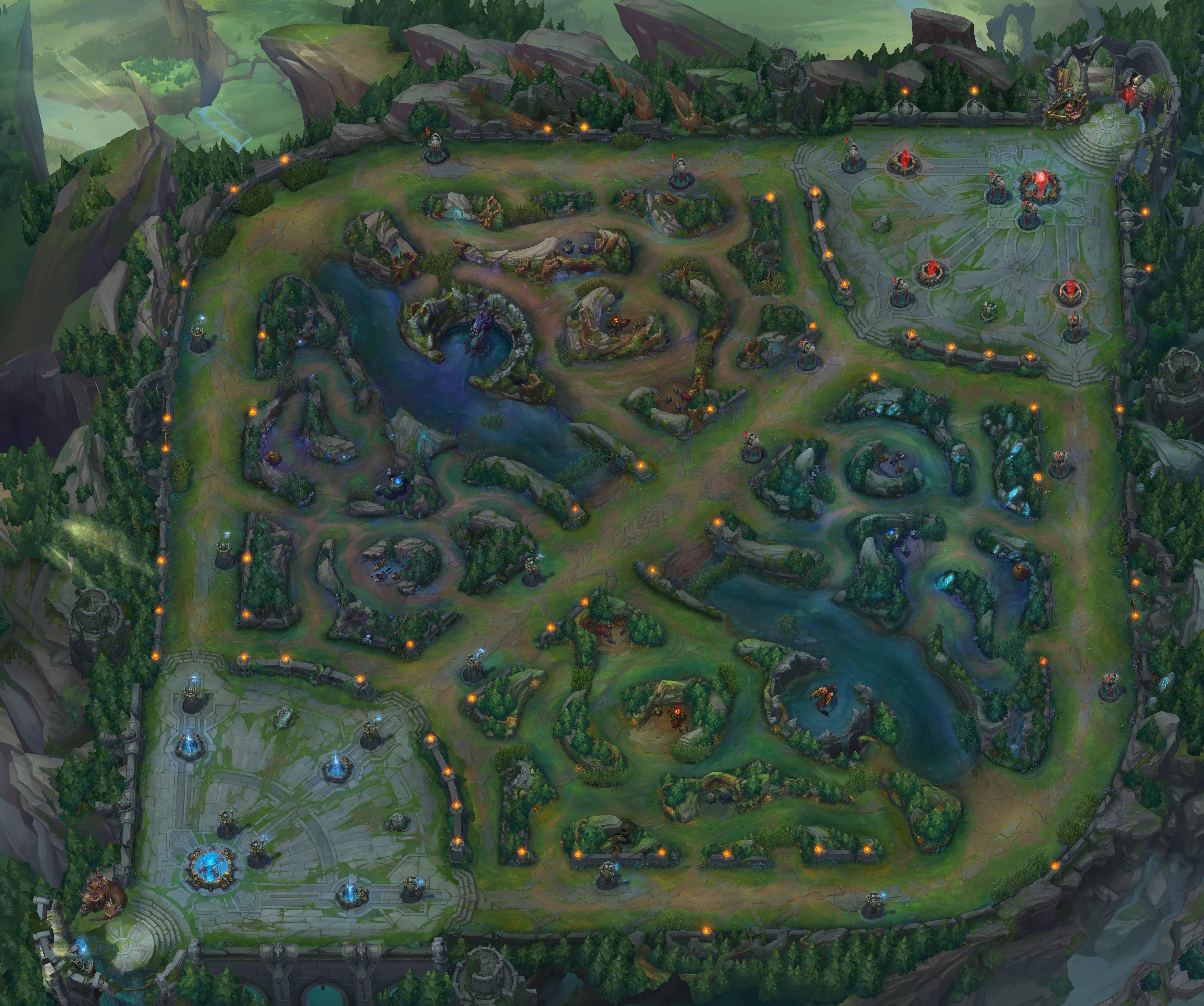 summoner's rift  league of legends inspired map conquest  - summonersriftreferenceimg m
